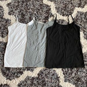 Felina Brand Tanks - Set of 3: White, Gray, Black
